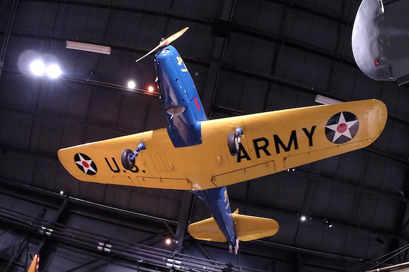 Fairchild PT-19A Cornell in the Early Years Gallery at the National Museum of the United States Air Force. (U.S. Air Force photo)