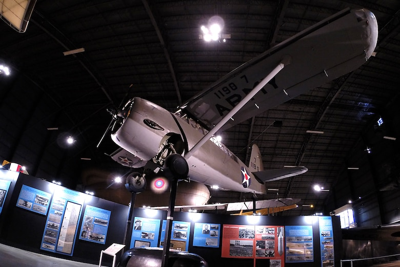 Curtiss O-52 in the Early Years Gallery at the National Museum of the United States Air Force. (U.S. Air Force photo)