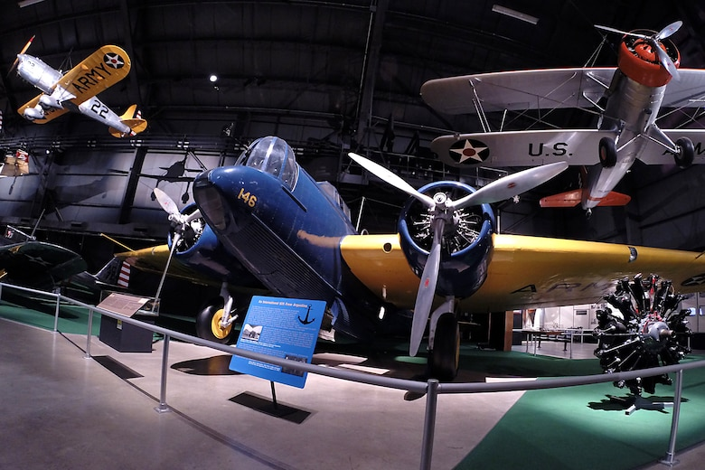 Martin B-10 in the Early Years Gallery at the National Museum of the United States Air Force. (U.S. Air Force photo)