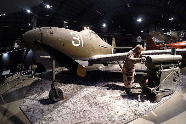 Bell P-39Q Airacobra in the World War II Gallery at the National Museum of the U.S. Air Force. (U.S. Air Force photo)