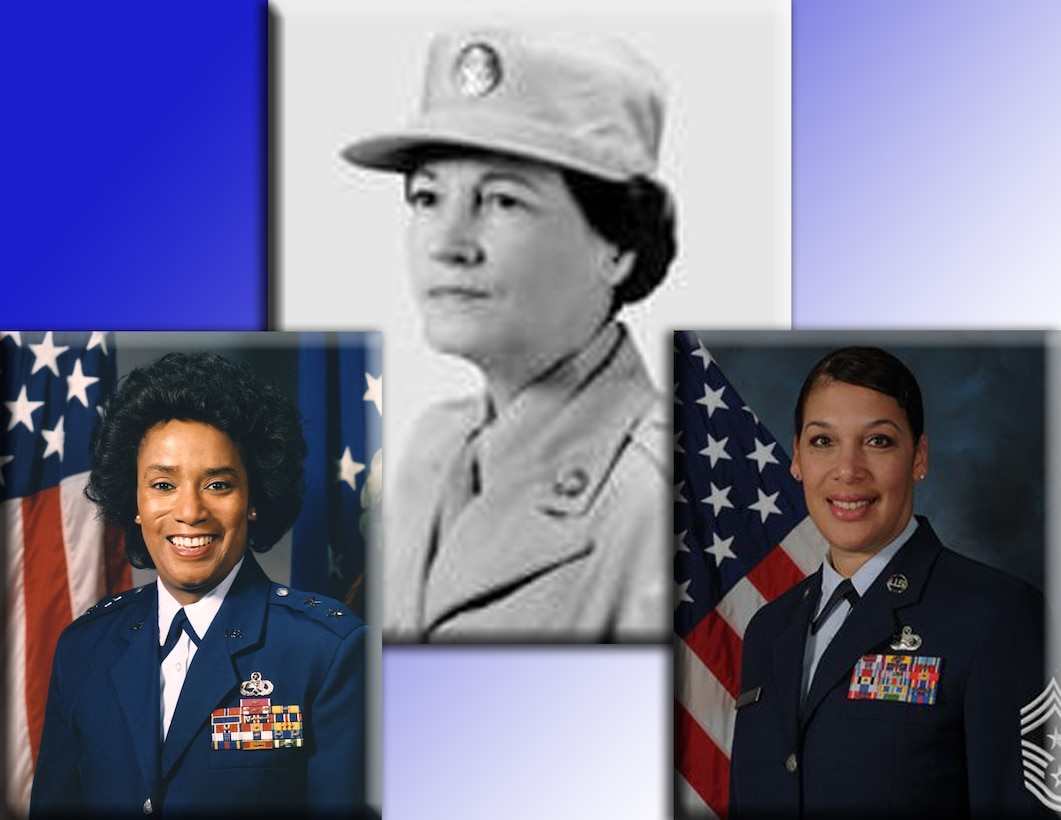 Women like Maj. Gen. Marcelite J. Harris, the first African American female general in the Air Force,  Esther Blake, the first woman in the Air Force, and Chief Master Sgt. Margarita Overton, the first female command chief for the 19th Airlift Wing at Little Rock Air Force Base, Ark., paved the way and opened doors of opportunity for all women to serve in the military. During Women's History Month, tribute is paid to these and all women who've made and is still making a difference in this country. (photo illustration)