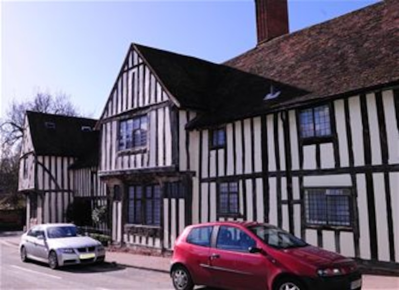 This half-timbered house is one of many in Lavenham, Suffolk, which dates back to medieval times. Lavenham has a rich history and was once a famous wool town. It has more than 300 buildings listed as being of architectural and historial interest. In the reign of Henry VIII, the town was ranked as the 14th wealthiest in England. (U.S. Air Force photo by Karen Abeyasekere/Released)