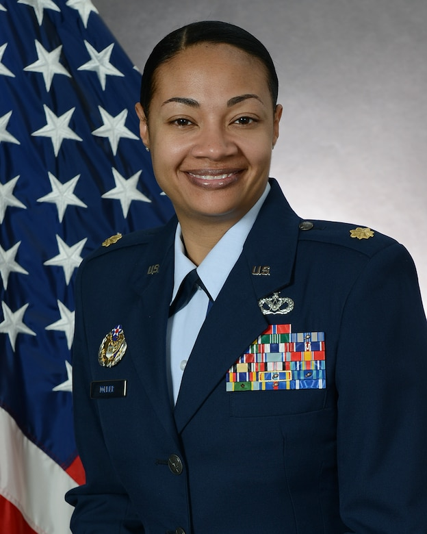 """Maj. Shamekia Toliver, 51st Civil Engineer Squadron flight commander, represents one of Osan Air Base's inspiring women. March is Women's History Month with the theme, """"Celebrating Women of Character, Courage and Commitment."""" (Courtesy Photo)"""