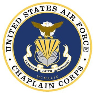 The Air Force Chaplain Corps provides spiritual care and the opportunity for Airmen, their families, and other authorized personnel to exercise their constitutional right to the free exercise of religion. This is accomplished through religious observances, providing pastoral care, and advising leadership on spiritual, ethical, moral, morale, core values, and religious accommodation issues.(U.S. Air Force graphic)