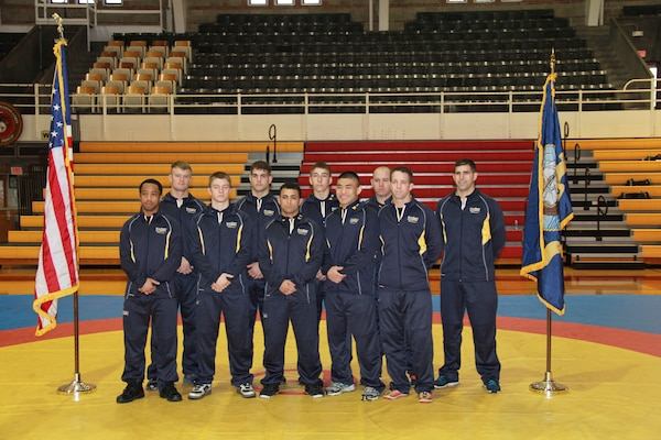 All-Navy Wrestling Team competing here at the 2014 Armed Forces Wrestling Championship at MCB Camp Lejeune, NC 7-8 March.