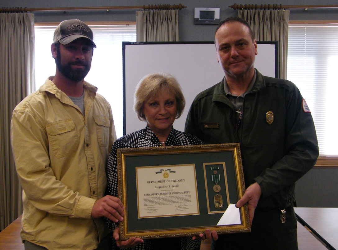 Jackie Smith, park contract representative at the Grenada Lake Field Office recently retired from the U. S. Army Corps of Engineers Vicksburg District, after 25 years and 11 months of service.