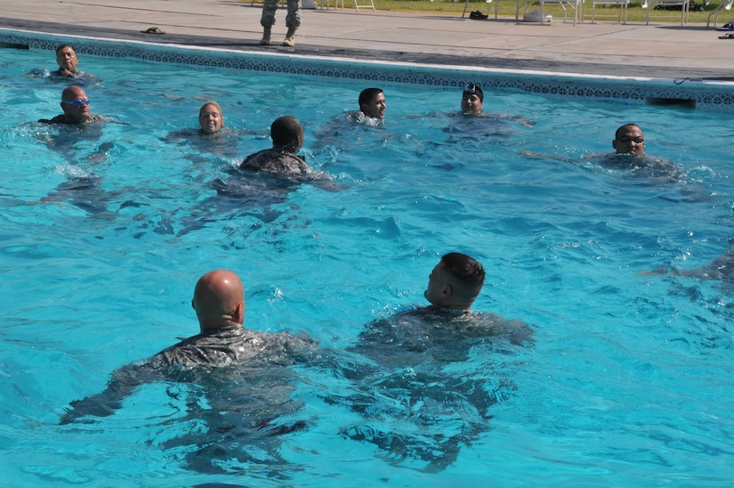 Joint Task Force-Bravo's Army Forces Batallion members participated today in a Combat Water Survival training here at Soto Cano Air Base, Honduras, March 13.