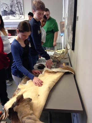 Students learn about various animals from Echoes of Nature at the annual Easy as Pi event, a STEM event sponsored by Society of American Military Engineers (SAME)  Baltimore Post.