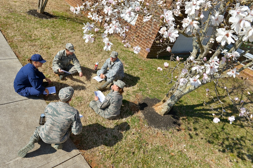 MCGHEE TYSON AIR NATIONAL GUARD BASE, Tenn. - U.S. Air Force Noncommissioned Officer Academy students study under the early season tree blossoms here March 11, 2014 at the I.G. Brown Training and Education Center campus. (U.S. Air National Guard photo by Master Sgt. Kurt Skoglund/Released)