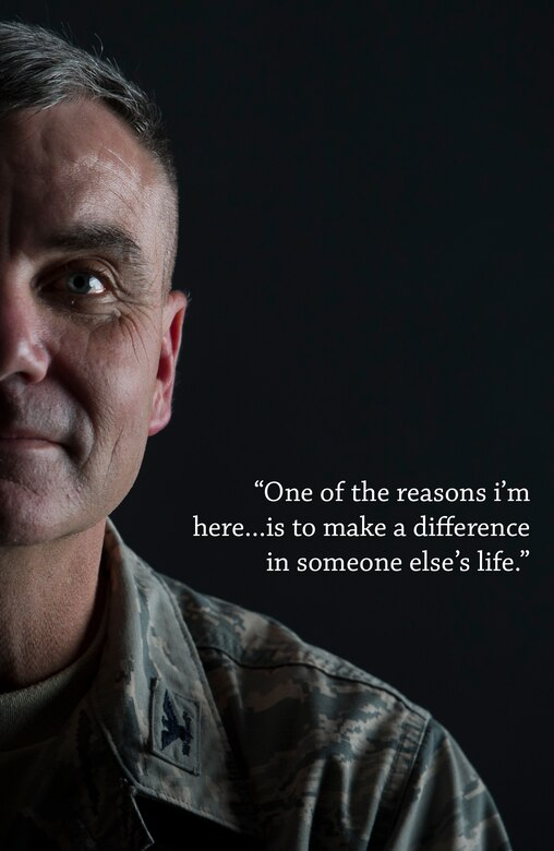 Col. Robert Swanson recently came forward to express his desire to testify of a time in which he attempted to end his own life earlier in his Air Force career. Swanson said it is critical that Airmen keep communication lines open, and to seek out help from a source that works for them and that they can connect with. Swanson is the chief of the Weather Branch at Pacific Air Forces located at Joint Base Pearl Harbor-Hickam, Hawaii. (U.S. Air Force illustration/Staff Sgt. Nathan Allen)