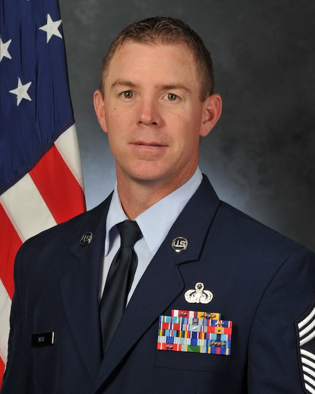 Official Air Force Photo of Chief Master Sgt. Craig A. Neri, Superintendent, Air Force Technical Applications Center, Patrick AFB, Fla.