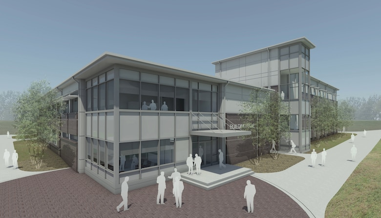 MCGHEE TYSON AIR NATIONAL GUARD BASE, Tenn. - This color rendering shows the projected, nearly 47,000 square foot, dormitory and classroom facility at the I.G. Brown Training and Education Center. (Illustration courtesy of the 134th Civil Engineer Squadron/Released)
