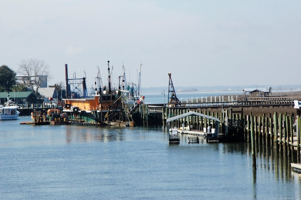 The Charleston District conducted a dredging project in Shem Creek to dredge the channel back to its former depth. This allows the shrimping industry in the area to continue to function without hinderance.
