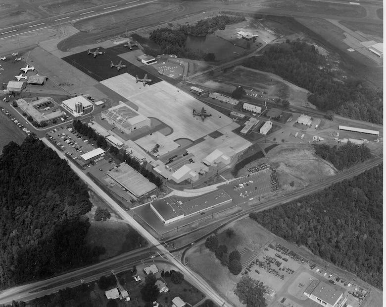 North Carolina Air National Guard aerial view during period of the C130-B aircraft