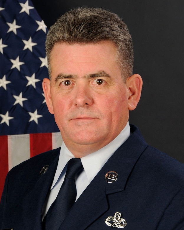 U.S. Air Force portrait of Chief Master Sgt. Robert Thibault, from the 169th Aircraft Maintenance Squadron of the South Carolina Air National Guard. (U.S. Air National Guard Photo by Tech. Sgt. Caycee Watson/Released)