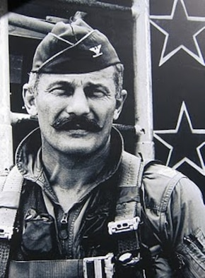 Col. Robin Olds with trademark mustache. (Courtesy photo)