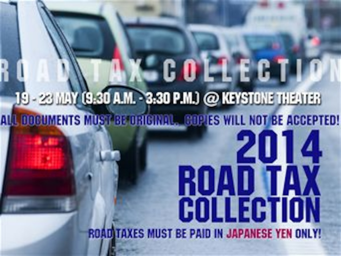 Okinawa Road Tax collection 2014 (U.S. Air Force graphic by Naoko Shimoji)