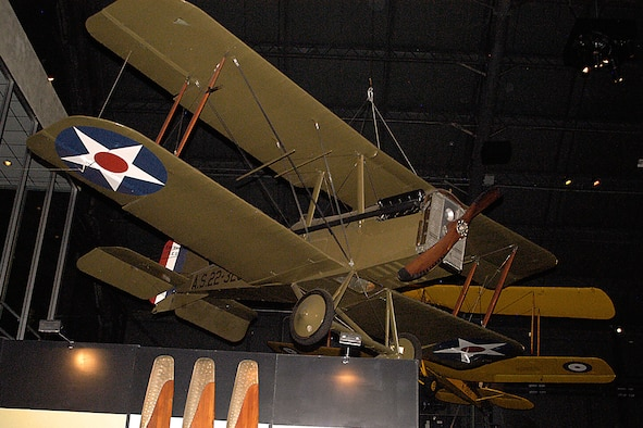 Eberhart SE-5E in the Early Years Gallery at the National Museum of the United States Air Force. (U.S. Air Force photo)