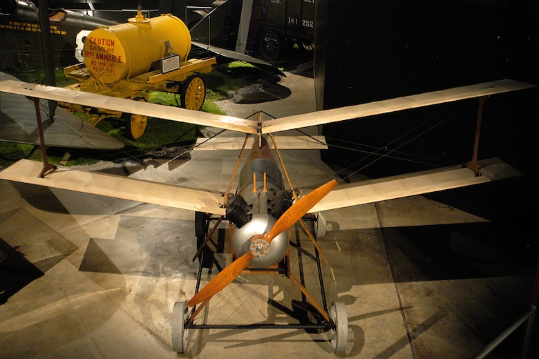"Kettering Aerial Torpedo ""Bug"" in the Early Years Gallery at the National Museum of the United States Air Force. (U.S. Air Force photo)"