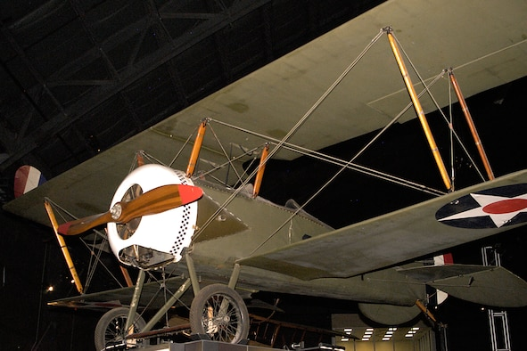 Thomas Morse S4C Scout in the Early Years Gallery at the National Museum of the United States Air Force. (U.S. Air Force photo)