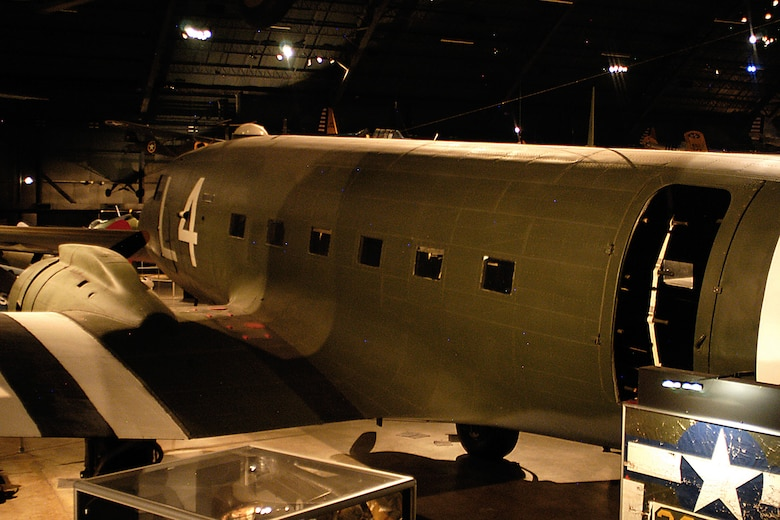 Douglas C-47D Skytrain in the World War II Gallery at the National Museum of the United States Air Force. (U.S. Air Force photo)