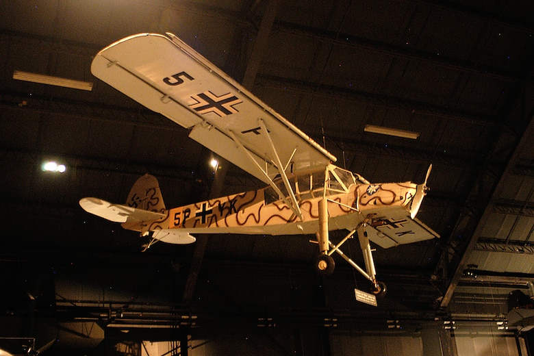 DAYTON, Ohio - Fieseler Fi-156C-1 Storch in the World War II Gallery at the National Museum of the United States Air Force. (U.S. Air Force photo)