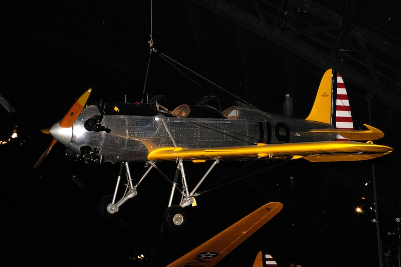 Ryan PT-22 Recruit in the World War II Gallery at the National Museum of the United States Air Force. (U.S. Air Force photo)