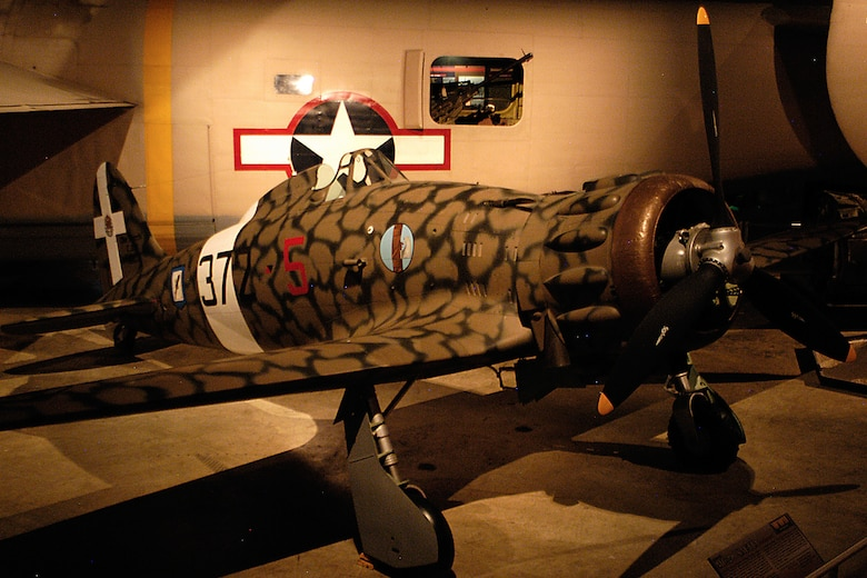 Macchi MC.200 Saetta in the World War II Gallery at the National Museum of the United States Air Force. (U.S. Air Force photo)