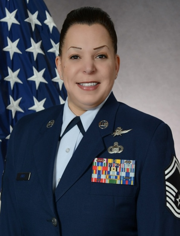 """Senior Master Sgt. Kristine Jones, 607th Air Operations Squadron Intelligence, Surveillance and Reconnaissance superintendent, is one of Osan Air Base's inspiring women. March is Women's History Month with the theme """"Celebrating Women of Character, Courage and Commitment."""" (Courtesy photo)"""