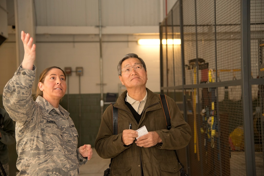 Japanese aviation reporter Susumu Tokunaga visited the 167th Airlift Wing March 21 to observe the operations for a series of articles highlighting the Air National Guard in Japan's oldest aviation publication, Aireview Magazine. (Air National Guard photo by 2nd Lt. Stacy Gault/Released)