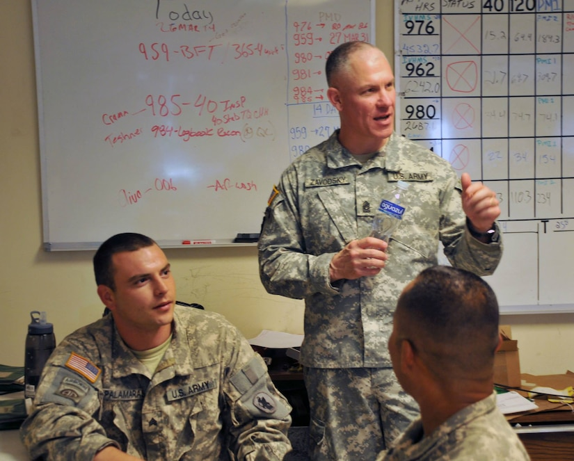 U.S. Army Command Sgt. Maj. Dennis Zavodsky visited Joint Task Force-Bravo, and received an operational briefing, a tour of Soto Cano Air Base, and met with many of the service members within the Task Force.
