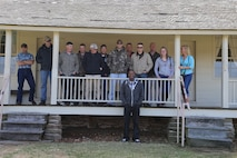 Marines observed the Ray family house during their battle study at Wilson's creek.
