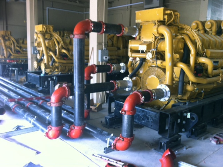3MW generators from the Standby Generator Replacement Project at Dugway Proving Ground, Utah.