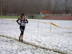 Navy lieutenant Gina Slaby (Naval Base Norfolk, VA) competing in the 2013 CISM World Military Cross Country Championship in Apatin, Serbia on 16 March 2013