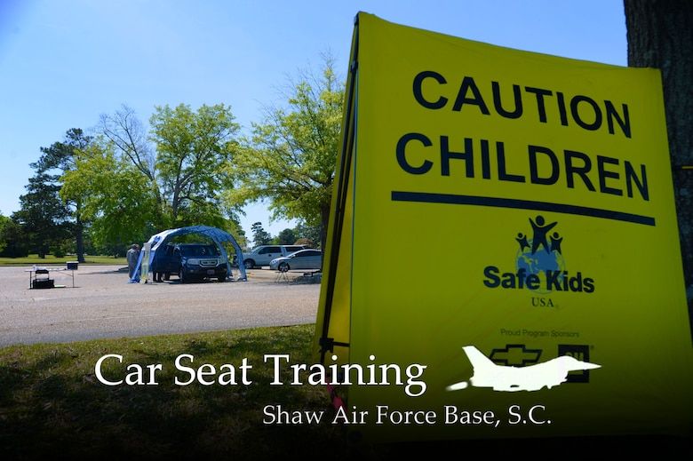 The 20th Fighter Wing Safety Office conducted car seat inspections at Shaw Air Force Base, S.C., April 24, 2014. Several Team Shaw members had their car seats inspected as well as children evaluated by height and weight. (U.S Air Force photo illustration by Airman 1st Class Jensen Stidham/Released)