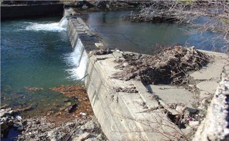 The Woodland Avenue Dam is the first impediment along Cobbs Creek preventing fish passage. Stored sediment behind the dam must be controlled during removal to prevent adverse upstream impacts.