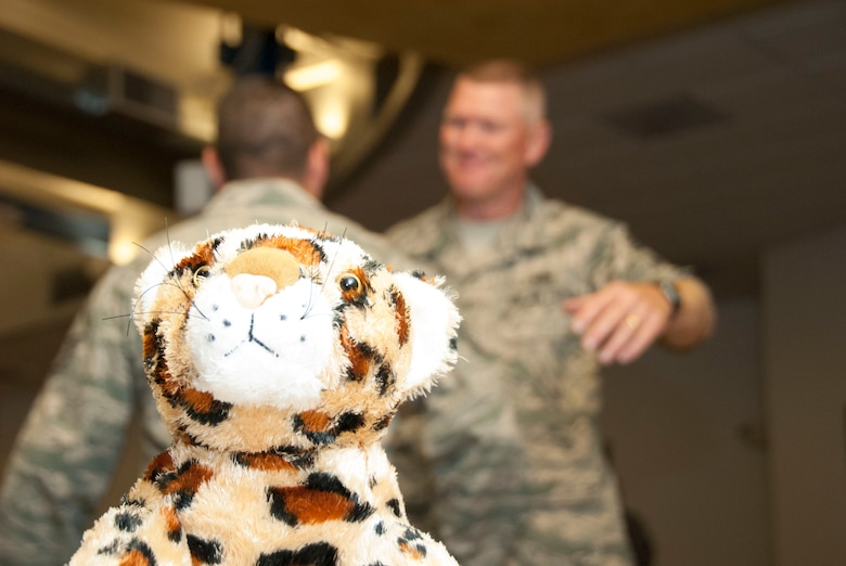 The tiger, or El Tigre, has served as an enduring mascot for the 162nd Wing for decades, much in the same way Chief Master Sgt Shane Clark has served as an enduring figure to the Citizen-Airmen of southern Arizona. (U.S. Air National Guard photo by Staff Sgt. Erich B. Smith/Released)