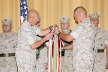 Lieutenant Gen. Robert Neller and Sgt. Maj. Lawrence Fineran, commander and