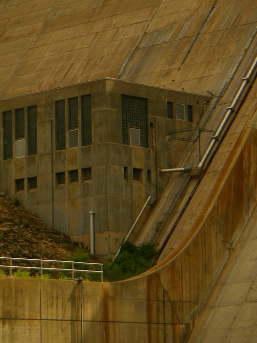 CONCHAS DAM, N.M., -- The powerhouse at Conchas Dam, June 21, 2012. Photo by Michael Porter.