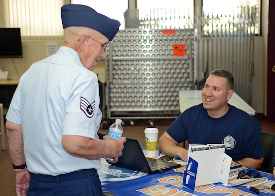 Military retirees can come to Edwards May 6 to get updated on information and enjoy some free services. (U.S. Air Force photo by Jet Fabara)