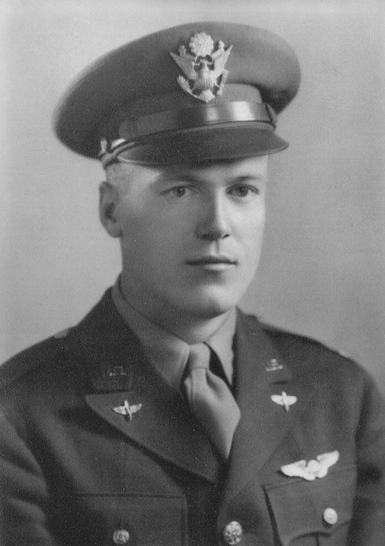 2nd Lt. Arthur L. Guertin, navigator -- killed in action -- is pictured. The people of Avord, France, dedicated a memorial May 8, 2014, honoring the crew of a U.S. B-17 Flying Fortress shot down during World War II. The B-17, nicknamed the Georgia Rebel II, crashed at about 12:00 p.m. April 28, 1944, on a mission bombing a Nazi German-occupied airfield, Avord Air Base, located in the middle of France. (Courtesy photo)