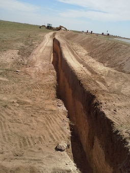 CANNON AIR FORCE BASE, N.M., --  Work on one of the many District's projects at the base Aug. 30, 2012. Photo by Phillip Roybal.