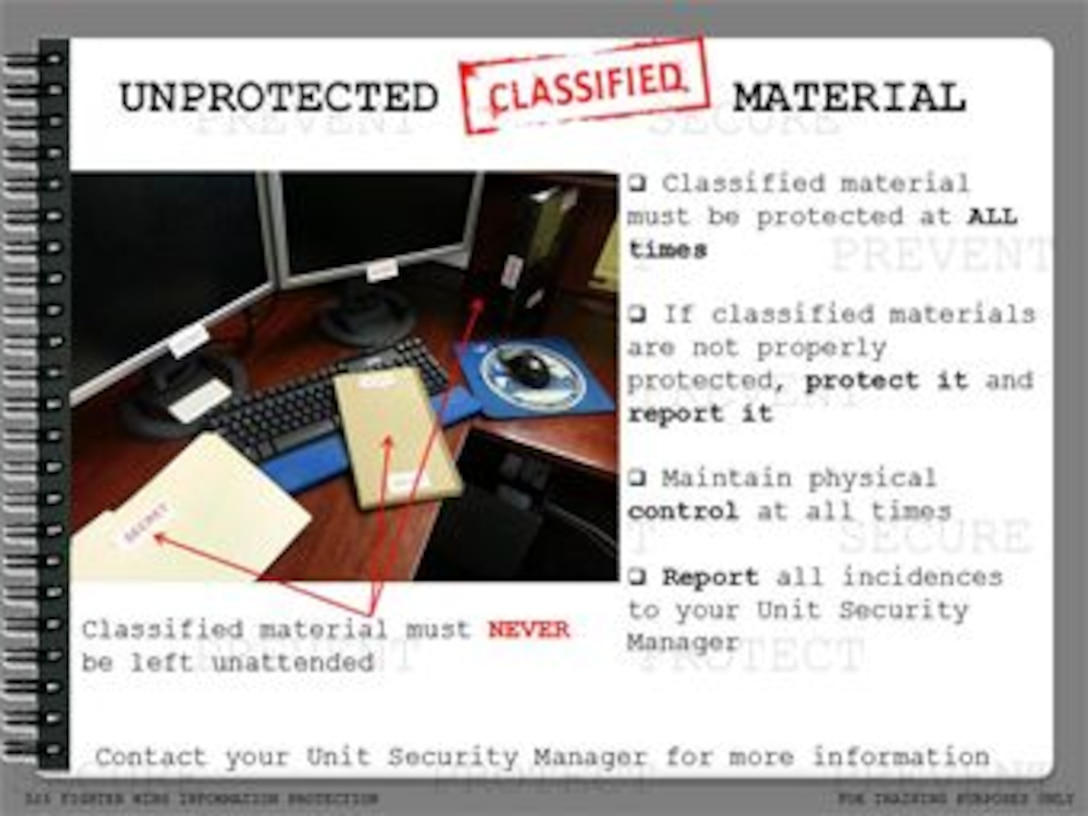 Protect Classified Material