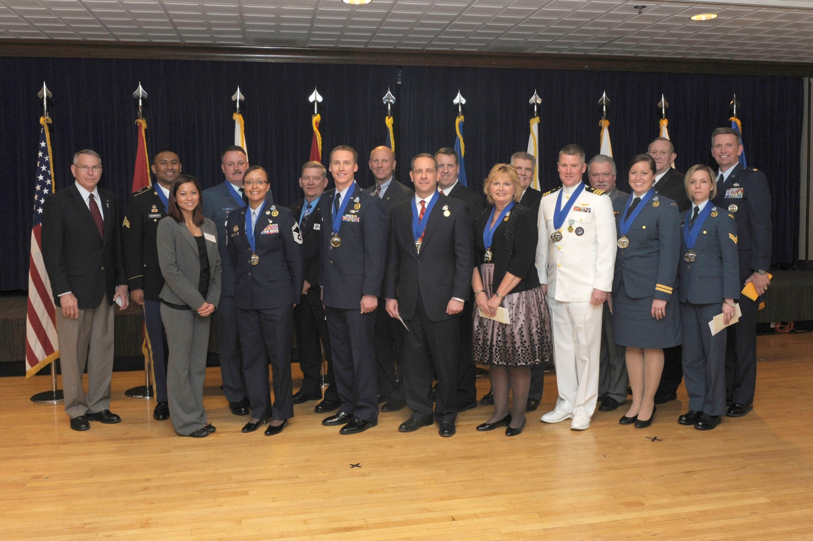 The awards program, established to recognize personnel for outstanding accomplishments during the calendar year, applies to all U.S. and Canadian forces personnel assigned to NORAD and USNORTHCOM, to include subordinate and components members.  Categories include officer, enlisted and civilian awards.
