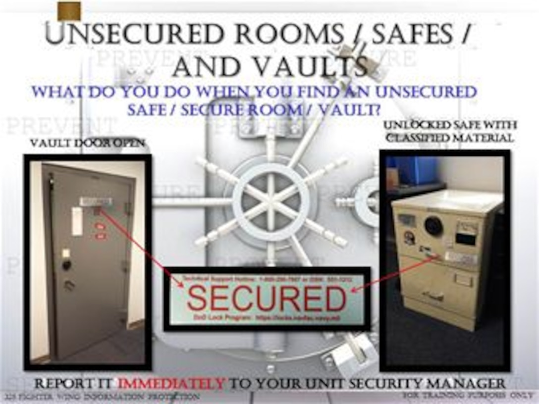 Unsecured Rooms