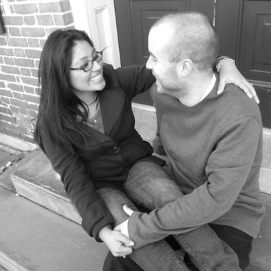 Me and Cece days before our wedding Jan. 3, 2011, in Dover, Del. We first met in December of 2007, began dating June 1, 2008, and got married Jan. 8, 2011. (Photo courtesy of Cynthia Ticas.)