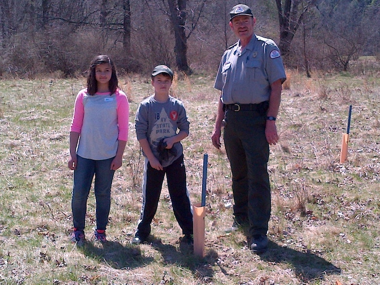 Tionesta Lake Project Staff and 10 of their children, ages eight to15 participated in National Take your Daughters and Sons to Work Day on April 24. In keeping with this year's theme, Plant a seed; Grow a Future, the group planted two types of saplings, Sawtooth Oaks and American Chestnuts.