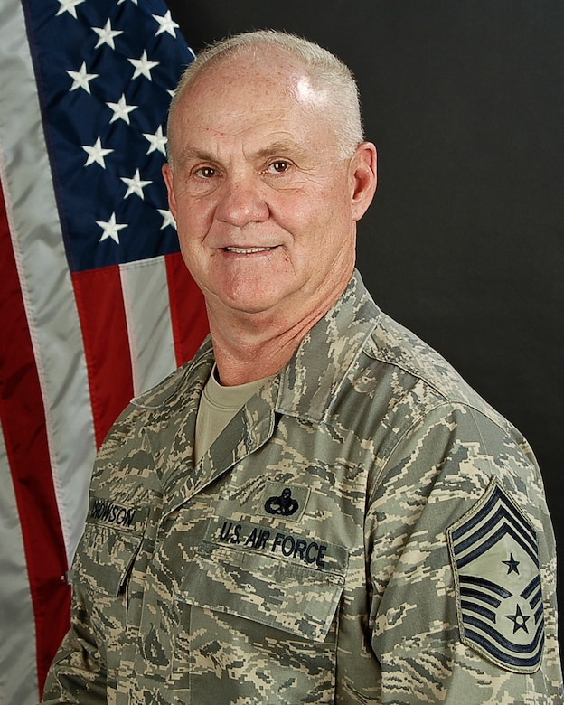 Portrait of Chief Master Sergeant Lawrence Crowson, State Command Chief for the South Carolina Air National Guard. (U.S. Air National Guard photo by Senior Master Sgt. Edward Snyder/Released).