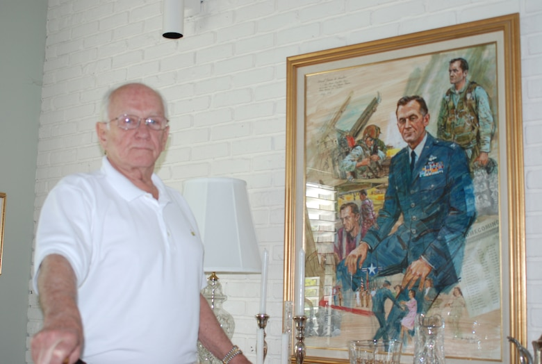red Col. Jim Kasler, a decorated war veteran passed away April 24, 2014. Kasler's service spanned 31 years and three wars. He earned 76 awards for valor and service. In addition to being the only man awarded the Air Force Cross three times. He was decorated twice with the Silver Star, a Legion of Merit, nine awards of the Distinguished Flying Cross, two Bronze Star Medals, two Purple Hearts and 11 Air Medal awards. (Courtesy photo)
