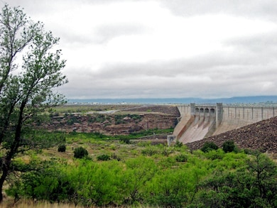 CONCHAS DAM, N.M., -- The Albuquerque District was established with the construction of the dam in the 1930s. This photo of the dam was taken at the 75th anniversary celebration of the District's establishment. Photo by Corinne O'Hara, May 14,2010.